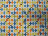 Camilla And Marc SheetWorld Fitted Bassinet Sheet - Argyle Transport Blue - Made In USA - 15 inches x 32 1/2 inches (38.1 cm x 82.6 cm)