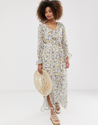 Gilli floral maxi dress with ruffle detail