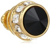 Stacy Adams Men's Gold Rondell Tie Tac With Jet and Clear Crystals