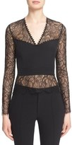 Yigal Azrouel Illusion Silk Lace Top