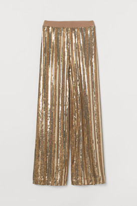 H&M Wide sequined trousers