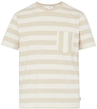 Frame Striped Cotton T-shirt - Mens - White Multi
