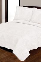 Melange Home Cotton Embroidered Victoria 3-Piece Quilt Set - White