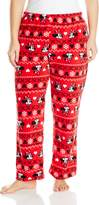 Disney Women's Ladies Plush Pants Minnie Plus