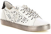 Dolce Vita Z-Punk Calf Hair Lace Up Metallic Sole Laser Cut Sneakers