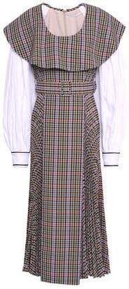 Emilia Wickstead Fluted Cloque Midi Dress
