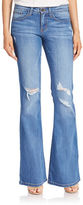 Flying Monkey Distressed Flared Jeans
