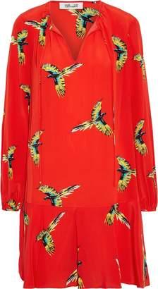 Diane von Furstenberg Printed Silk Crepe De Chine Dress