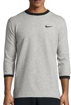 Nike AV15 Fleece 3/4 Sleeve Crewneck Sweatshirt
