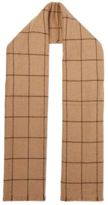 Giuliva Heritage Collection The Aura Windowpane-checked Wool Scarf - Womens - Camel