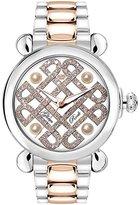 Glam Rock Women's Vintage 40mm Multicolor Steel Bracelet & Case Swiss Quartz White Dial Watch GR28076