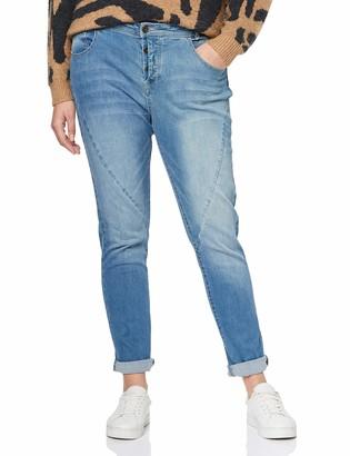 Ulla Popken Women's Jeanshose mit modischen Nahten K-Lange Curvy Slim Jeans