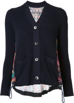 Sacai Long Sleeve Crochet Lace Cardigan