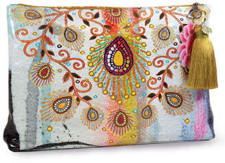 Papaya Moroccan-Peacock Large Pouch