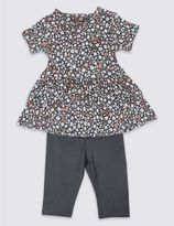 Marks and Spencer 2 Piece Dress & Leggings Outfit
