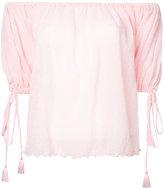 G.V.G.V. Yoryu chiffon off shoulder blouse