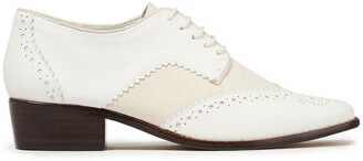 Zimmermann Laser-cut Leather And Canvas Brogues