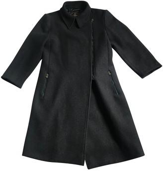 Fendi Blue Wool Coat for Women Vintage