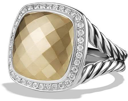 David Yurman Albion Ring with 18K Gold Dome and Diamonds