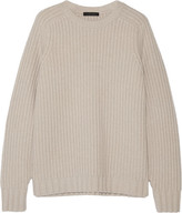 The Row Keyes Ribbed Wool And Cashmere-blend Sweater - Beige