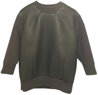 Neil Barrett Black Leather Knitwear
