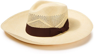 Sensi Canvas-trimmed Toquilla Straw Panama Hat