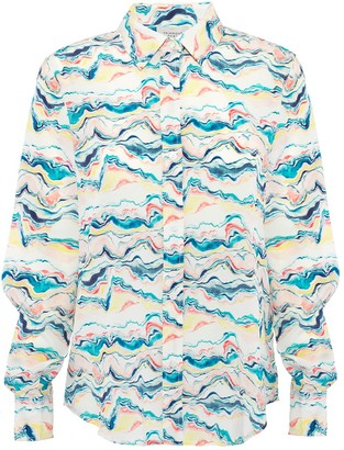 Primrose Park London Gail Shirt In Wave