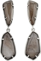Kendra Scott Traci Earrings in Gray Pearl