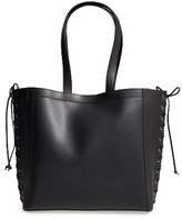 Max Mara Large Leather Shopper - Black