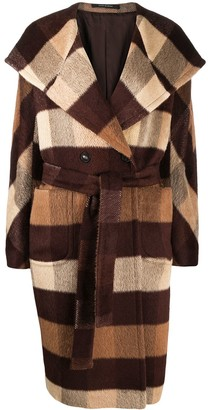Tagliatore Checked Double-Breasted Wool Coat