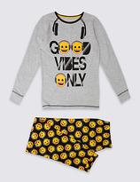 Marks and Spencer Emoji Print Pyjamas (7-16 Years)