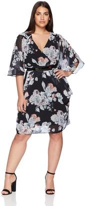 City Chic Women's Apparel Women's Plus Size Dress Sublime Floral XXL