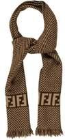 Fendi Wool Patterned Scarf