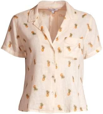 Rails Zuma Pineapple Silk-Blend Short-Sleeve Shirt