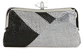 Kate Landry Metal Mesh Crystal Frame Clutch
