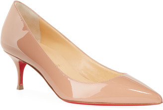 Christian Louboutin Kate Patent Red Sole Pumps