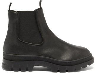 Jacques Soloviere - Ranjo Tread-sole Waxed-leather Chelsea Boots - Black