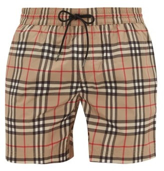 Burberry Grafton Checked Swim Shorts - Beige Multi