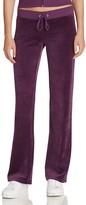 Juicy Couture Black Label Original Flare Velour Pants in Aubergine - 100% Bloomingdale's Exclusive