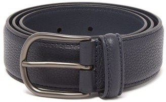 Andersons Pebbled Leather Belt - Navy