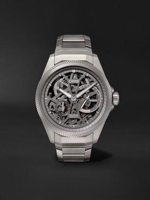 Oris Big Crown Propilot X Hand-Wound Skeleton 44mm Titanium Watch