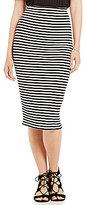 M.S.S.P. Knitted Gauze Stripe Pencil Skirt