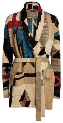 Polo Ralph Lauren Patchwork Belted Cardigan