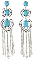 Charlotte Russe Faux Turquoise Fringe Statement Earrings