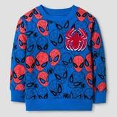 Spiderman Toddler Boy's Printed Sweatshirt - Blue