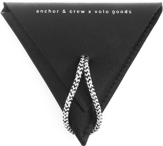 Anchor & Crew Graphite Black Dunster Leather & Rope Coin Purse