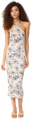 Clayton Women's Maliya Floral Print Midi Dress Bare Sketch X-Small