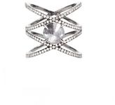 Eva Fehren XX Ring with Inverted Grey Diamond Ring