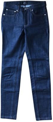 A.P.C. High Standard Blue Cotton Jeans