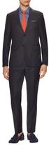 Z Zegna Wool Solid Peak Lapel Suit